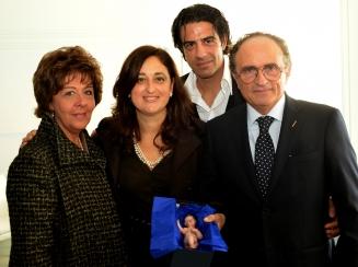 Cristina Tramontano il maestro d arte presepiale Federico Iaccarino  il giornalista Antonino Siniscalchi