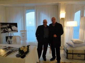 Luigi Coppola Fotografo con il giornalista Gaetano Milone