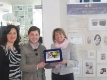 michele vitiello e la docente liceo artistico Grandi di Sorrento