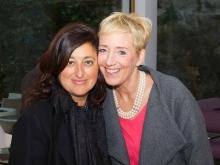 Carolina Ciampa con Myra Petri