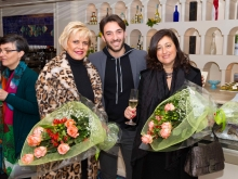 Hotel Conca Park di Sorrento , Il nostro caro Luigi Gargiulo che ci omaggia fiori meravigliosi come Lui, con Mariella Russo albergatrice, e Carolina Ciampa