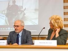 il giornalista Antonino Siniscalchi con Mariella Russo Albergatrice
