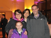 Franco Romano e famiglia